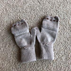 Pusheen grey convertible mittens